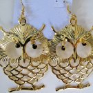 Large Owl Earrings (Gold)
