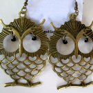 Large Owl Earrings (Dark Gold) ONE LEFT