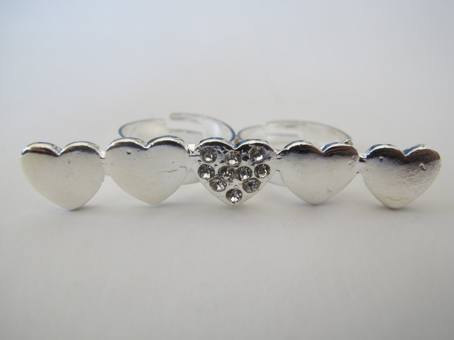 Double Finger Heart Ring