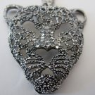 Panther Necklace (Silver Rhinestones)