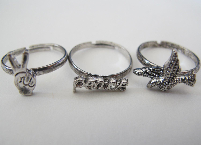 Peace & Dove Rings