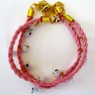 Evil Eye Bracelet (Light Pink)