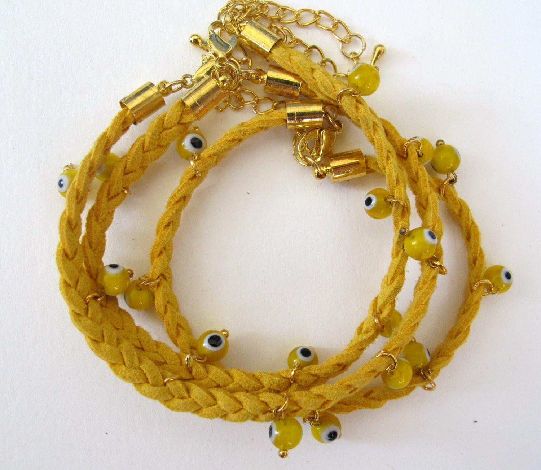 Evil Eye Bracelet (Yellow)