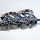 Double Finger Feather Ring (Dark Silver)
