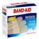 Band-Aid Sheer Comfort-Flex Adhesive Bandages, 60 Assorted