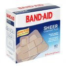Band-Aid Sheer Comfort-Flex Adhesive Bandages, 80 Assorted