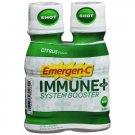 Emergen-C Immune+ System Booster, 2 Pack Shot, Citrus Flavor