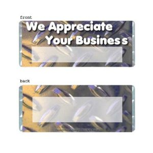 Industrial Personalized Candy Bar Wrapper B002-C