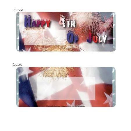 July 4th Personalized Candy Bar Wrapper Only HD002
