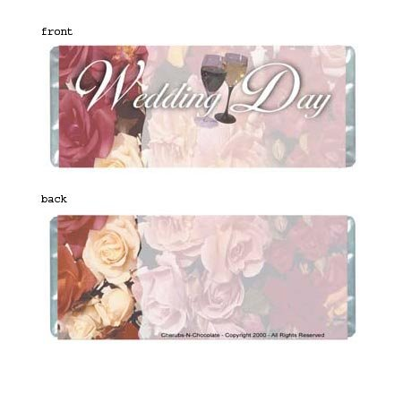 Floral Wedding Personalized Candy Bar Wrapper Only WD001