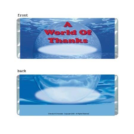 World Of Thanks Personalized Candy Bar Wrapper B003-C