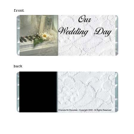 White Wedding Personalized Candy Bar Wrapper Only WD002