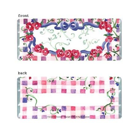 Floral Personalized Candy Bar Wrapper Only AP005