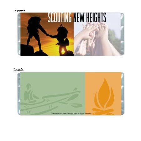 Scouting Personalized Candy Bar Wrapper Only FR004