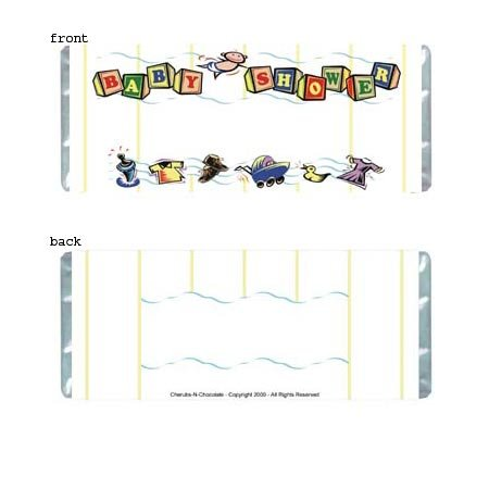 Baby Shower 1 Personalized Candy Bar Wrapper Only BS01