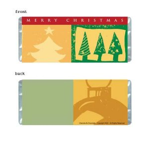Christmas 1 Personalized Candy Bar Wrapper HD005-C