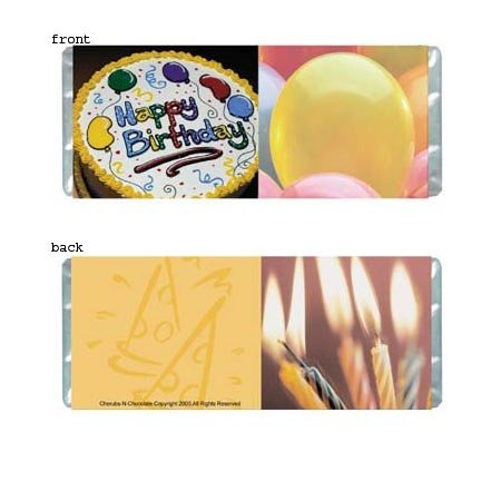 Birthday Cake Personalized Candy Bar Wrapper Only BD006