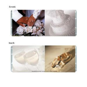 Wedding Elegance 2 Personalized Candy Bar Wrapper Only WD006