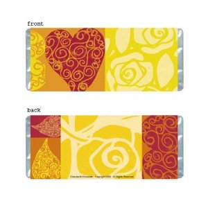 Hearts Personalized Candy Bar Wrapper AP013-C