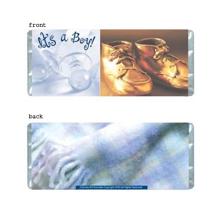 It's A Boy Personalized Candy Bar Wrapper Only BA007