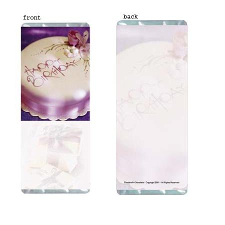 Birthday Elegance Personalized Candy Bar Wrapper Only BD09