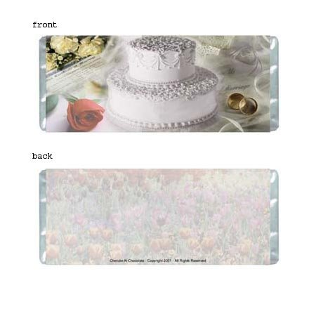Wedding Collage Personalized Candy Bar Wrapper WD007-C