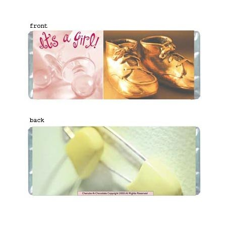 It's A Girl Personalized Candy Bar Wrapper BA008-C