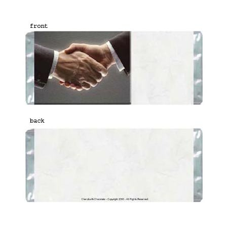 Handshake Personalized Candy Bar Wrapper Only B014