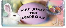 Easter 1 Personalized Candy Bar Wrapper HD011-C