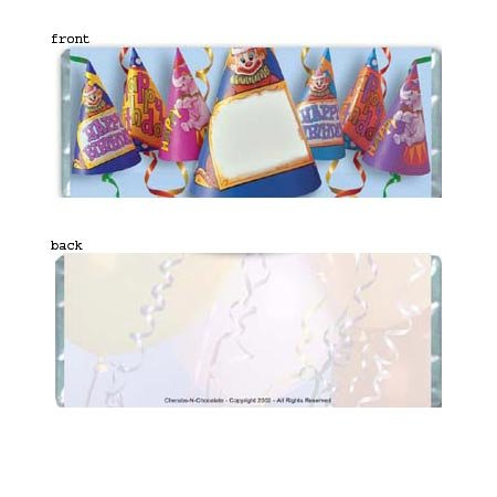 Birthday Hats Personalized Candy Bar Wrapper Only BD012
