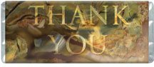 Thank You Personalized Candy Bar Wrapper Only B016