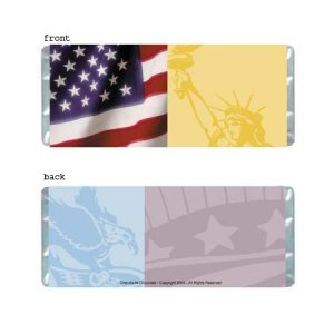 America Personalized Candy Bar Wrapper Only AP022