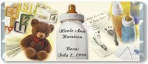 Baby Collage Personalized Candy Bar Wrapper Only BA015
