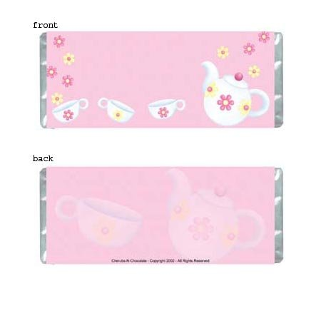Tea Party Personalized Candy Bar Wrapper Only SE026