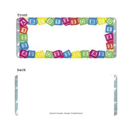 Baby Blocks Personalized Candy Bar Wrapper Only BA018