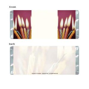 Birthday Candles Personalized Candy Bar Wrapper Only BD019