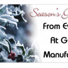 Seasons Greetings Personalized Candy Bar Wrapper HD018-C