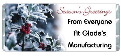 Seasons Greetings Personalized Candy Bar Wrapper Only HD018