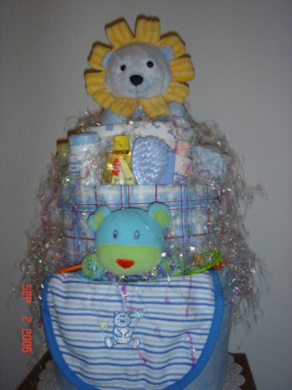 3-Tiered Diaper Cake