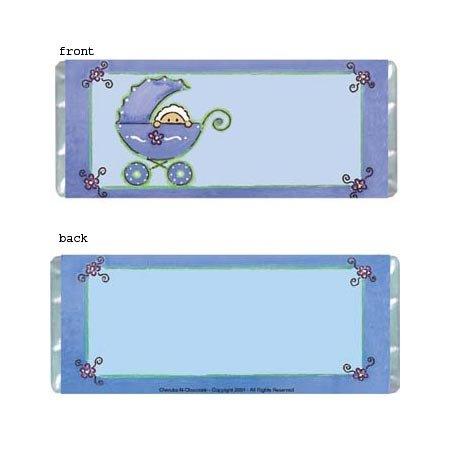 Boy Stroller Personalized Candy Bar Wrapper BA019-C