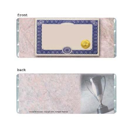 Certificate Personalized Candy Bar Wrapper Only AP035