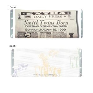 Read All About It Personalized Candy Bar Wrapper AP039-C