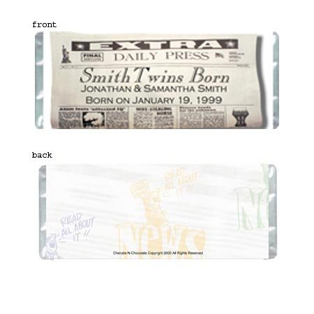 Read All About It Personalized Candy Bar Wrapper Only AP039