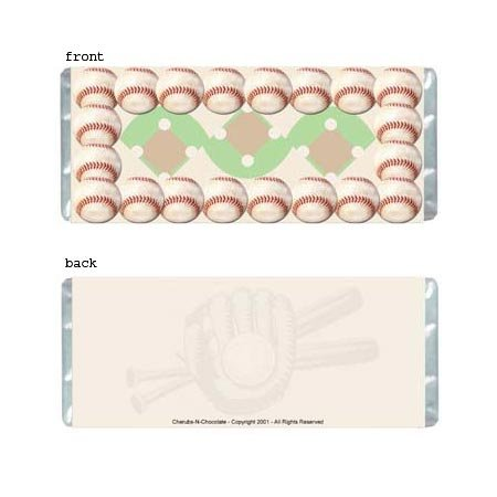 Baseball Personalized Candy Bar Wrapper AP042-C