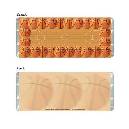 Basketball Personalized Candy Bar Wrapper Only AP043