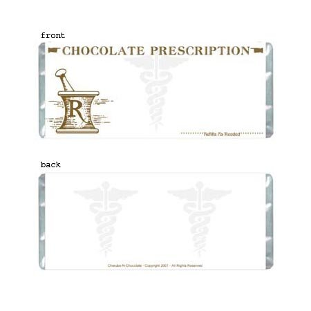Prescription Personalized Candy Bar Wrapper Only AP048