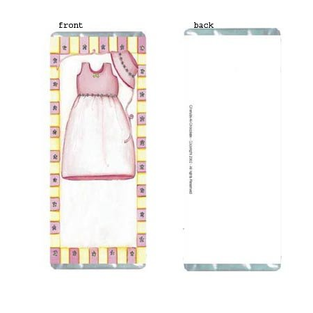 Pink Dress Personalized Candy Bar Wrapper Only AP050
