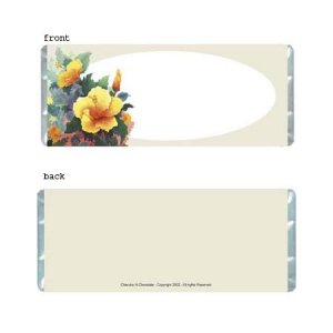 Hibiscus Personalized Candy Bar Wrapper Only AP050