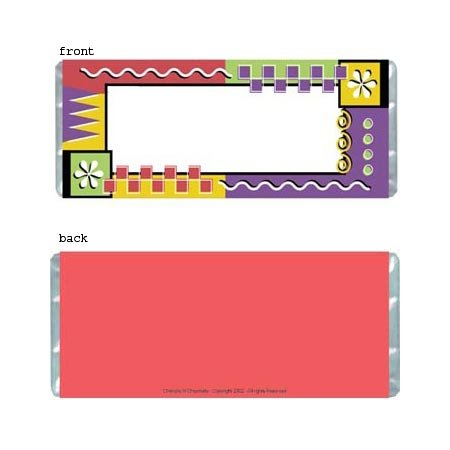 Geometric Border Personalized Candy Bar Wrapper Only AP053