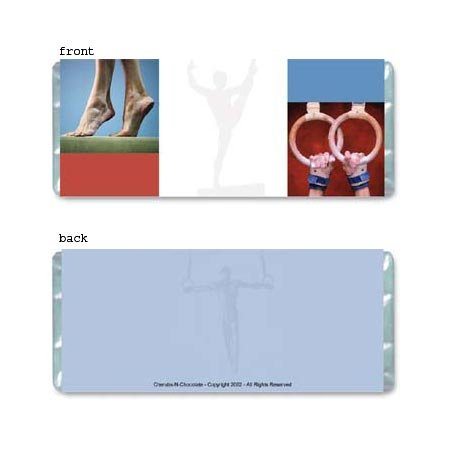 Gymnastics Personalized Candy Bar Wrapper Only AP055
